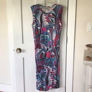 Emilio Pucci Grasshopper Print Jersey Dress